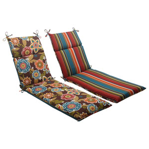 Outdoor Annie|Westport Reversible Chaise Lounge Cushion in Chocolate