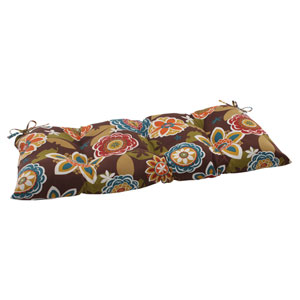 Outdoor Annie Tufted Loveseat Cushion in Chocolate