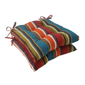 Outdoor Westport Tufted Seat Cushion in Teal, Set of Two