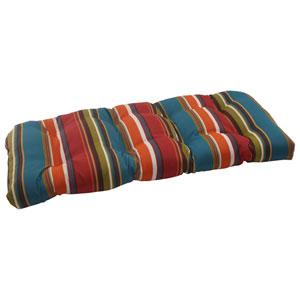 Outdoor Westport Wicker Loveseat Cushion in Teal