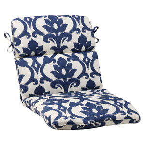 Outdoor Bosco Rounded Chair Cushion in Navy