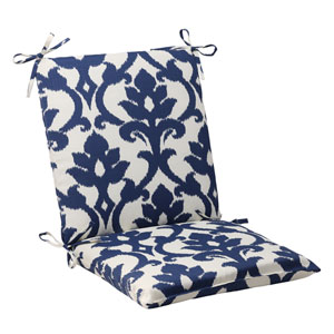 Outdoor Bosco Squared Chair Cushion in Navy