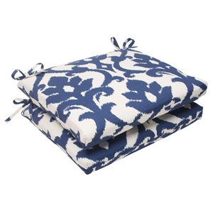 Outdoor Bosco Squared Seat Cushion in Navy, Set of Two