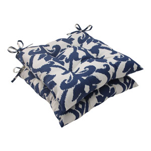 Outdoor Bosco Tufted Seat Cushion in Navy, Set of Two