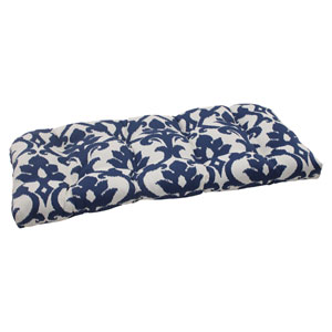 Outdoor Bosco Wicker Loveseat Cushion in Navy