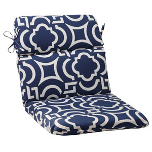 Outdoor Carmody Rounded Chair Cushion in Navy