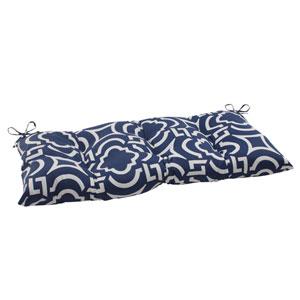 Outdoor Carmody Tufted Loveseat Cushion in Navy
