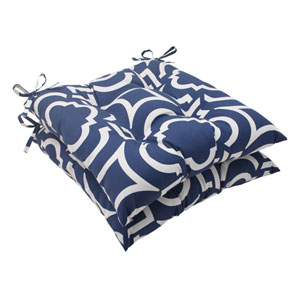 Outdoor Carmody Tufted Seat Cushion in Navy, Set of Two