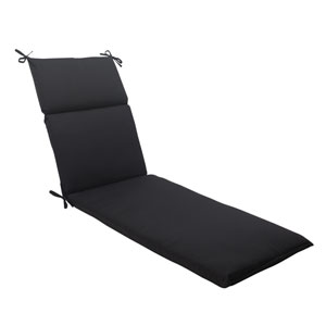 Outdoor Fresco Chaise Lounge Cushion in Black