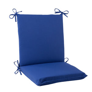 Outdoor Fresco Squared Chair Cushion in Navy