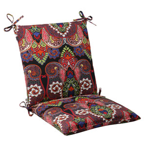 Outdoor Marapi Squared Chair Cushion in Black