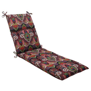 Outdoor Marapi Chaise Lounge Cushion in Black