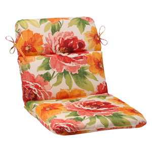 Outdoor Primro Rounded Chair Cushion in Orange