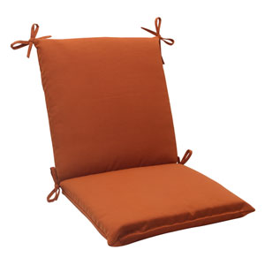 Outdoor Cinnabar Squared Chair Cushion in Burnt Orange
