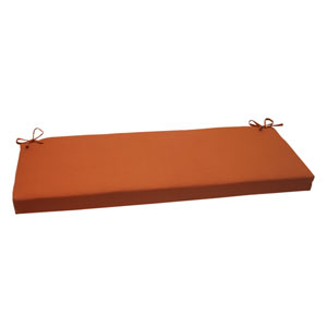 Outdoor Cinnabar Bench Cushion in Burnt Orange