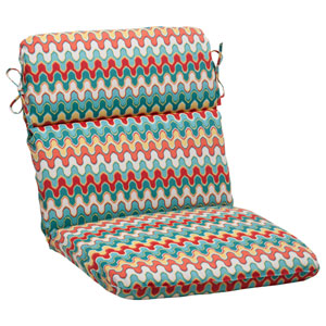 Outdoor Nivala Rounded Chair Cushion in Blue