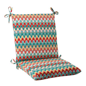 Outdoor Nivala Squared Chair Cushion in Blue