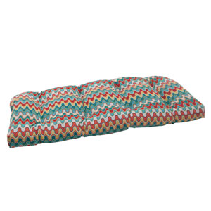 Outdoor Nivala Wicker Loveseat Cushion in Blue