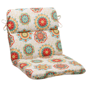 Outdoor Fairington Rounded Chair Cushion in Aqua