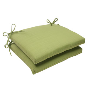 Outdoor Forsyth Squared Seat Cushion in Green, Set of Two