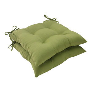 Outdoor Forsyth Tufted Seat Cushion in Green, Set of Two