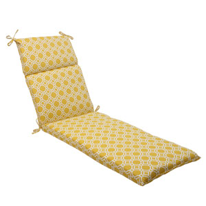 Outdoor Rossmere Chaise Lounge Cushion in Yellow
