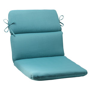 Outdoor Forsyth Rounded Chair Cushion in Turquoise