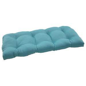 Outdoor Forsyth Wicker Loveseat Cushion in Turquoise