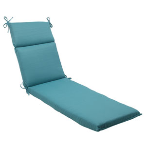 Outdoor Forsyth Chaise Lounge Cushion in Turquoise