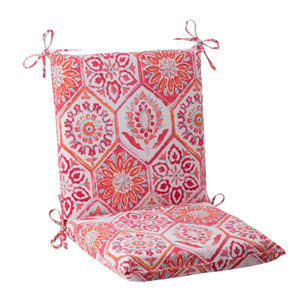 Outdoor Summer Breeze Squared Chair Cushion in Flame