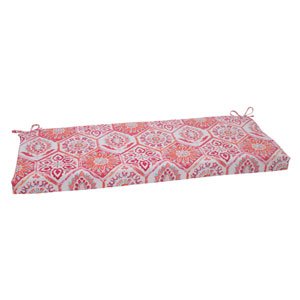 Outdoor Summer Breeze Bench Cushion in Flame