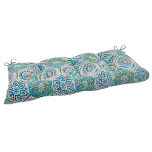Outdoor Summer Breeze Tufted Loveseat Cushion in Pool