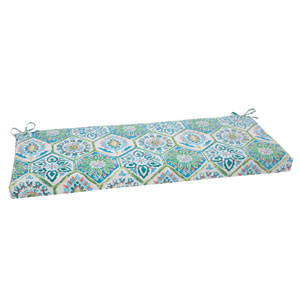 Outdoor Summer Breeze Bench Cushion in Pool