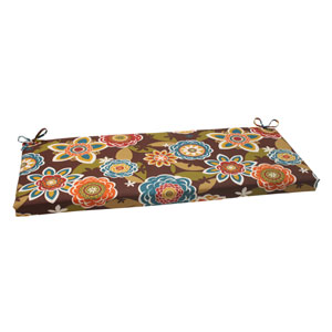 Outdoor Annie Bench Cushion in Chocolate