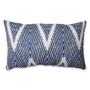 Bali Blue, White Throw Pillow