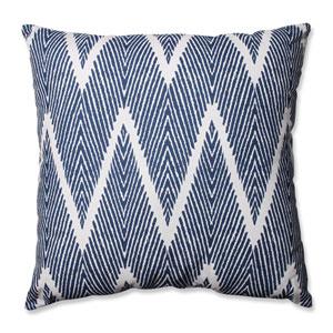 Bali Blue, White Floor Pillow