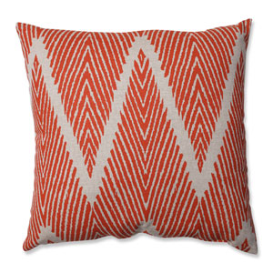 Bali Coral, Taupe Throw Pillow