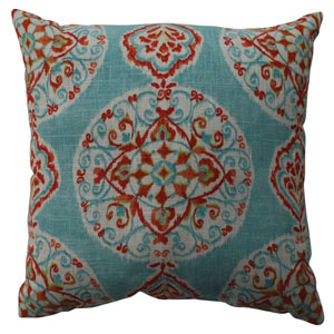 Mirage Medallion Capri 16.5-Inch Throw Pillow
