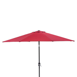 Outdoor / Indoor Pompeii Red 9-foot Patio Market Umbrella