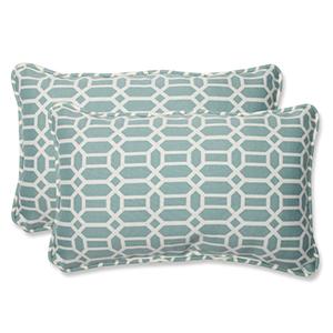 Blue Outdoor Rhodes Quartz Rectangular Throw Pillow, Set of 2