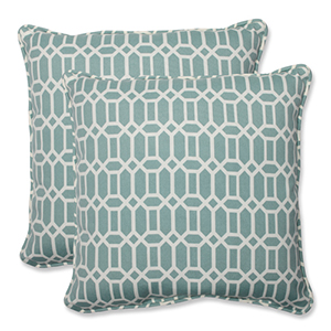 Blue Outdoor Rhodes Quartz 18.5-Inch Throw Pillow, Set of 2