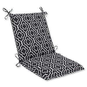 Black Outdoor Starlet Night Squared Corners Chair Cushion