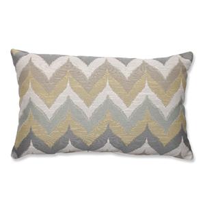 Kosala Mist Gold and Yellow Rectangular Throw Pillow