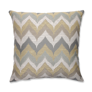 Kosala Mist Gold and Yellow 18-Inch Square Throw Pillow
