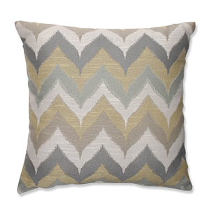 Kosala Mist Gold and Yellow 16.5-Inch Square Throw Pillow