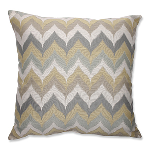 Kosala Mist Gold and Yellow 24.5-Inch Square Floor Pillow