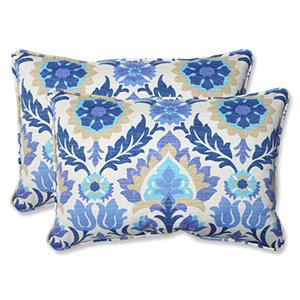 Blue Outdoor Santa Maria Azure Over-sized Rectangular Throw Pillow, Set of 2