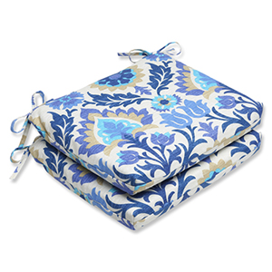 Blue Outdoor Santa Maria Azure Squared Corners Seat Cushion, Set of 2