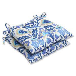 Blue Outdoor Santa Maria Azure Wrought Iron Seat Cushion, Set of 2