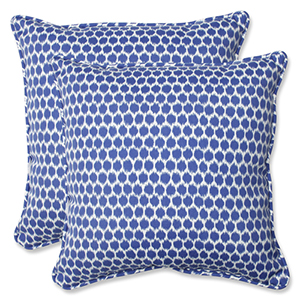 Blue Outdoor Seeing Spots Navy 18.5-inch Throw Pillow, Set of 2
